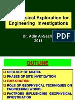 Geophysical Investigations 4 Eng'g