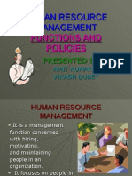 Human Resource Management &Policy