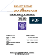 A Project Report on Coca Cola