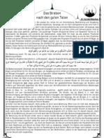 Das Streben nach den guten Taten [Freitagsansprache vom 11.11.11]