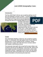 Myanmar Flood 2008 Geography Case Study