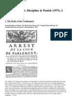 Foucault Discipline & Punish Torture