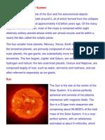 A Brief Description of Solar System