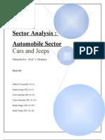 Automobile Sector Report