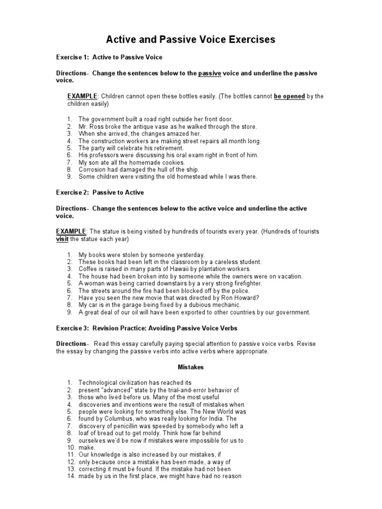 worksheet Passive Voice Worksheet 1512166519v1