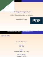 Socket Programming in C++
