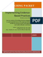 Implementing Evidence Based Practices