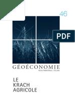 Géoéconomie Agriculture la nouvelle donne mondiale