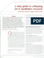 2007 Step by Step Guide to Critiquing Research Part 2 Qualitative Research