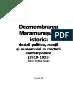 Dezmembrarea Maramuresului Istoric