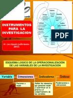 INSTRUMENTOS PARA LA INVESTIGACIÓN 2011