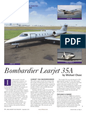 Aircraft Comparative Analisys - LEar 35A - September 2011