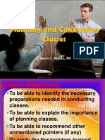 Health Educ Planning and Conducting Classes