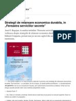 Strategii de Relansare Economica Durabila in Fereastra Serviciilor Secrete