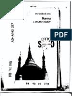 Area Handbook - Burma