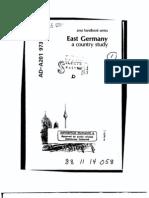 Area Handbook - East Germany