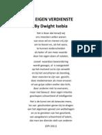 DE EIGEN VERDIENSTE by Dwight Isebia