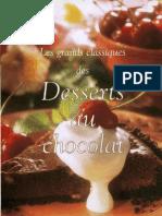 (Cookbook - Recette - FR) - Les Desserts Au Chocolat, Patisserie - Livre