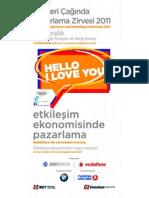 Pazarlama Zirvesi 2011 Ana Brosur / Customer Experlence and Marketing Conferance