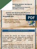 Exposicion Gestión de Alcance y Recursos humanos del proyecto