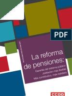 La Reforma de Las Pensiones CCOO