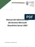 20101217 - Manual Del Administrador de Share Point 2007