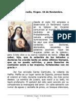 S. Gertrudis Virgen. 16 de Noviembre