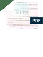 2011 H1 Math Paper - Statistics Portion