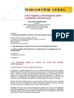 Consideraciones legales y psicológicas sobre la adopción internacional+