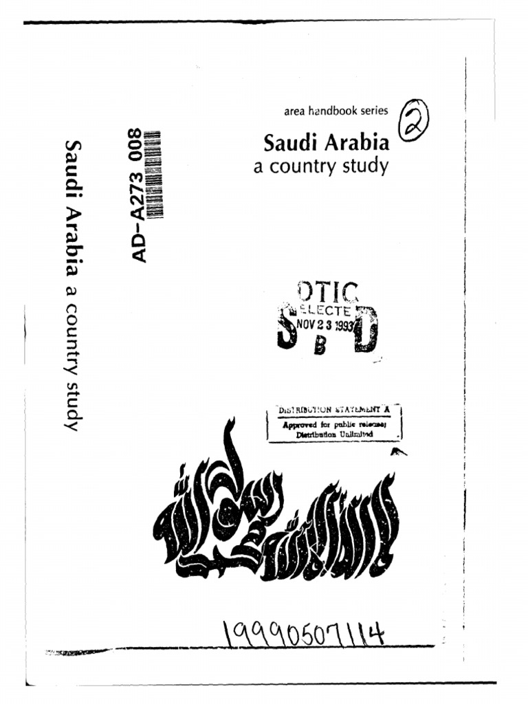 Area Handbook - Saudi Arabia | House Of Saud | Saudi Arabia