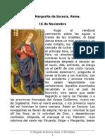 S. Margarita de Escocia, Reina. 16 Noviembre