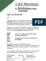 A2 SNAB Revision Notes