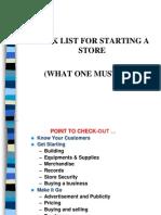 Retail Store Checklist