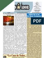 """2011-11-13 """"ElConquistador"""" Boletín Semanal de la casa de Todos. Chimbote Perú"""