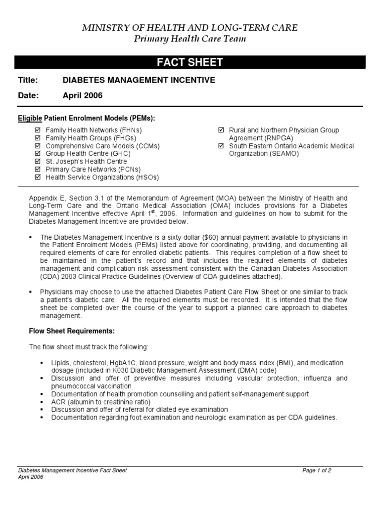 2006DiabetesMgmt Flowsheet and Explanation | Diabetes