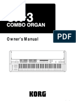 Korg CX3 Manual