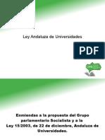 Modificación Ley Andaluza Universidades por la Coordinadora Andaluza de Representantes de Estudiantes CARE