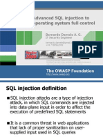 AppsecEU09 Damele a G Advanced SQL Injection Slides