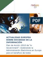 """Plan de Acción i2010 de """"e-Government"""""""