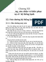 Chuong 12 - Bao Duong, Sua Chua Va Khac Phuc Su Co He Thong Lanh