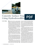 Concrete Surface Preparation Using Hydro Demolition