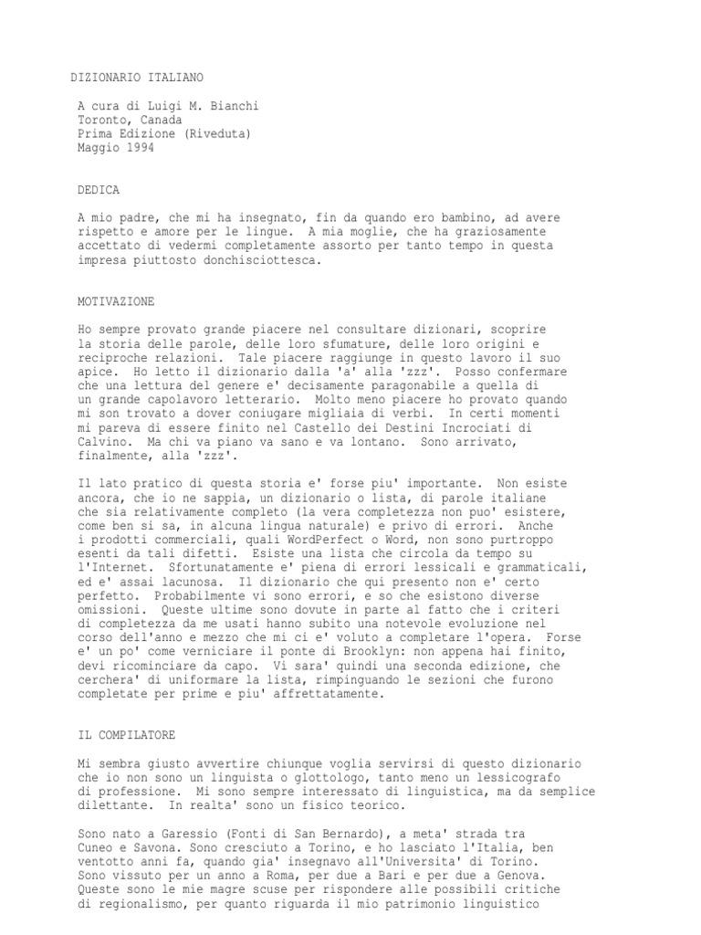 5a43316070 Luigi M. Bianchi - Dizionario Italiano Dei Termini (Txt)