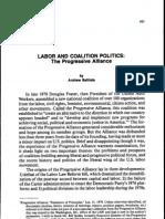 Labor and Coalition Politics - The Progressive Alliance
