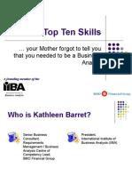 The Top Ten Skills