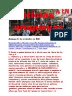 Noticias Uruguayas Domingo 13 de Noviembre de 2011