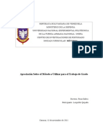 Apreciación Sobre el Método a Utilizar para el Trabajo Evaluación del desempeño Docente 040408