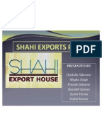 Export house project report