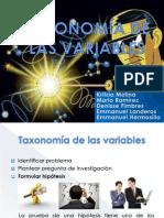 TAXONOMÍA DE LAS VARIABLES