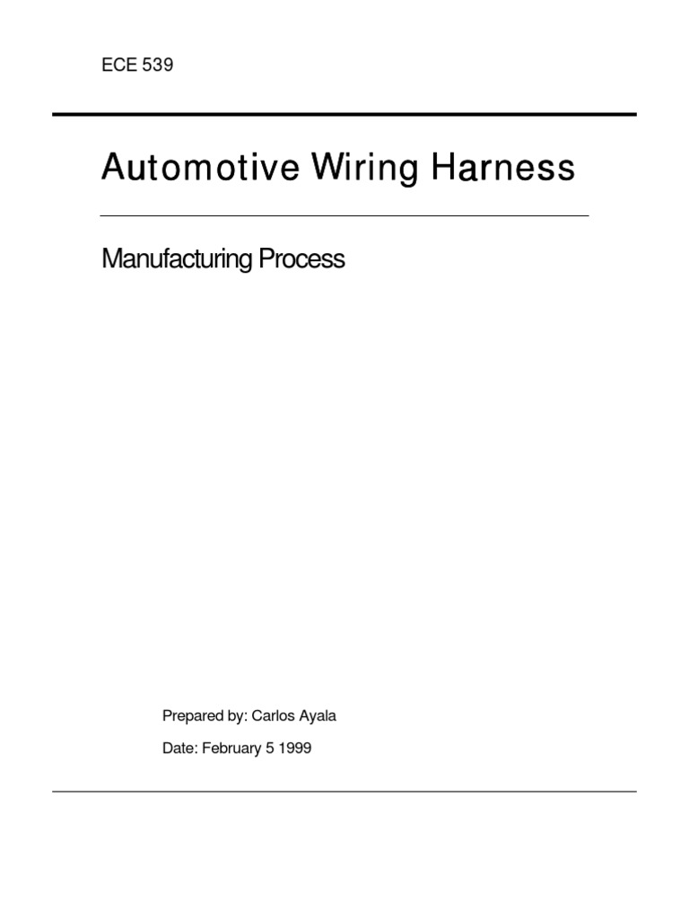Auto Harness Welding Electrical Connector Wire Manufacturing Process
