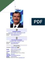 Vicente Fox Sexenio